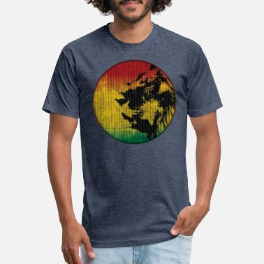 Rasta Lion rasta lion - Unisex Poly Cotton T-Shirt