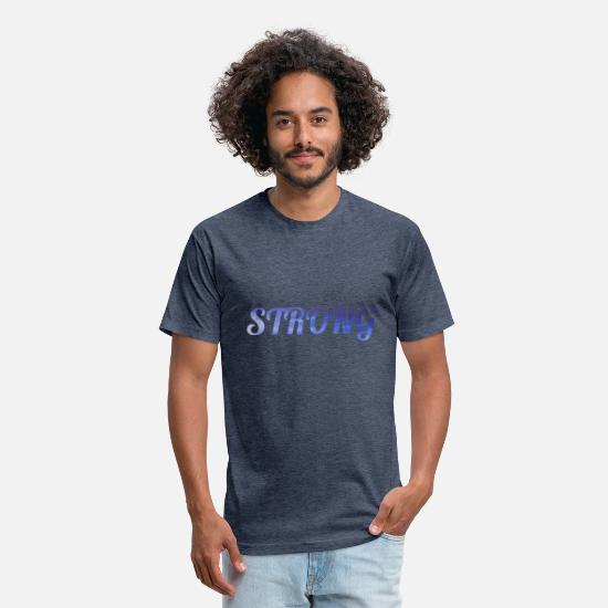 Love T-Shirts - strong - Unisex Poly Cotton T-Shirt heather navy