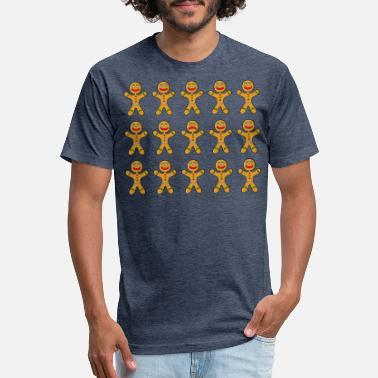 Gingerbread Gingerbread man army with bad gingerbread - Unisex Poly Cotton T-Shirt