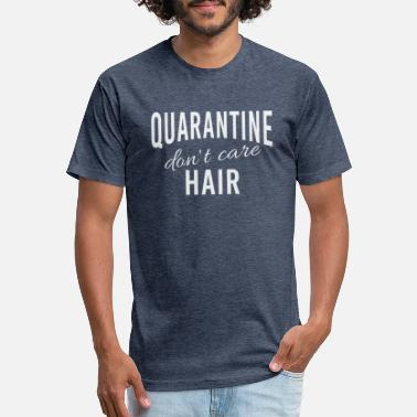 Isolated Don't Care - Quarantine Hair! - Unisex Poly Cotton T-Shirt