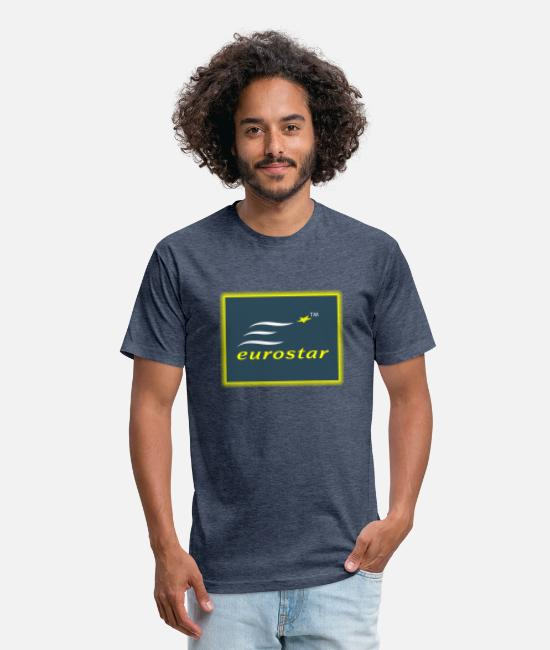 EU T-Shirts - Eurostar - Unisex Poly Cotton T-Shirt heather navy
