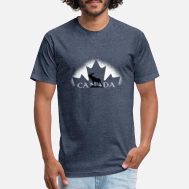 Canada Flag Moose CANADA MOOSE - Unisex Poly Cotton T-Shirt