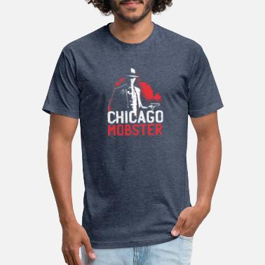 Chicago Words CHICAGO MOBSTER T-Shirt - Unisex Poly Cotton T-Shirt