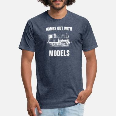 Steam Engine Model Train Shirt Steam Engine Classic Locomotive - Unisex Poly Cotton T-Shirt