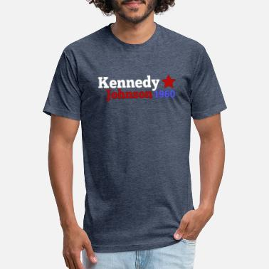 Template Presidential Election John JFK Kennedy & Lyndon B Johnson 1960 Presidential Election Campaign - Fitted Cotton/Poly T-Shirt by Next Level