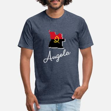 National Colors Angola - Africa - National Colors - Map - Unisex Poly Cotton T-Shirt