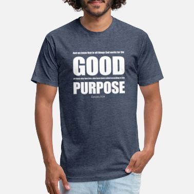 Roman Gods Romans 8:28 God works for the good,Christian - Unisex Poly Cotton T-Shirt