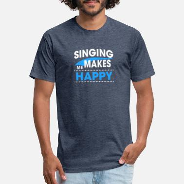 Singing In The SINGING - Fitted Cotton/Poly T-Shirt by Next Level