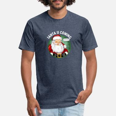 Santa Is Coming That's What She Said - Unisex Poly Cotton T-Shirt