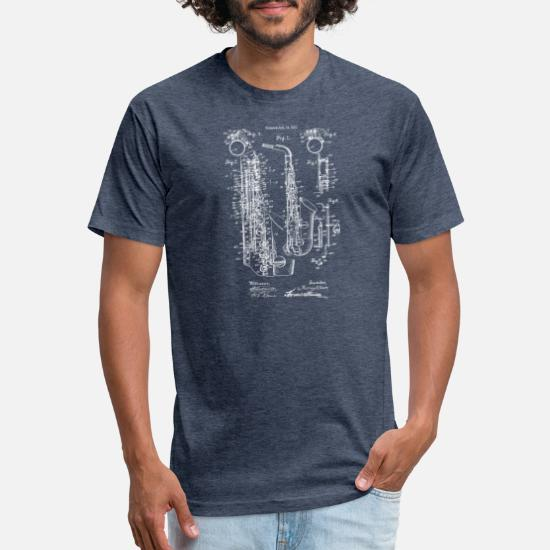1e56edeb39cef Vintage Jazz Saxophone 1915 Patent Print Unisex Poly Cotton T-Shirt ...