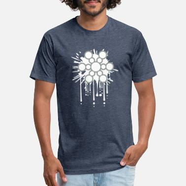 Drop Design Snowflake - Unisex Poly Cotton T-Shirt