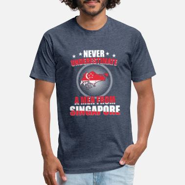 Singapore Singapore - Unisex Poly Cotton T-Shirt