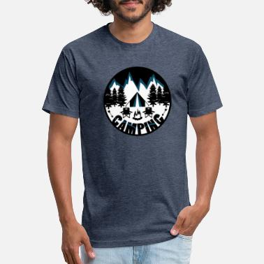 Camp Camping Camping - Fitted Cotton/Poly T-Shirt by Next Level