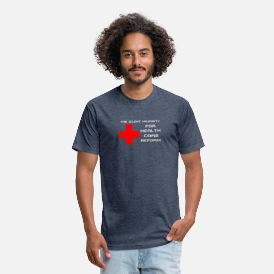 Reform T-Shirts - New Design Silent majority for health care reform - Unisex Poly Cotton T-Shirt heather navy