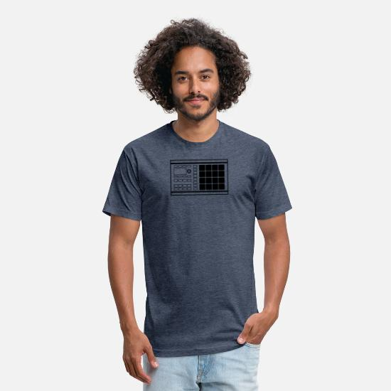 Native Instruments T-Shirts - Drum Pad Beat Making Music Machine - Unisex Poly Cotton T-Shirt heather navy