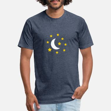 Half Moon moon_and_stars - Unisex Poly Cotton T-Shirt