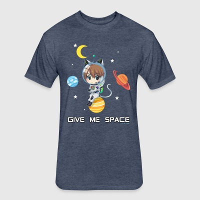 Give me space - Fitted Cotton/Poly T-Shirt by Next Level