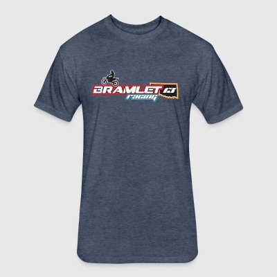 Bramlet Racing - Fitted Cotton/Poly T-Shirt by Next Level