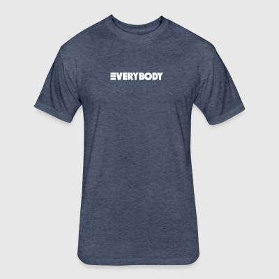 Everybody White - Fitted Cotton/Poly T-Shirt by Next Level