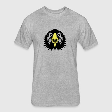 eagle head face 1102 - Fitted Cotton/Poly T-Shirt by Next Level