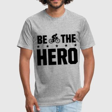 Be the Hero Biker Sport Shirt - Fitted Cotton/Poly T-Shirt by Next Level