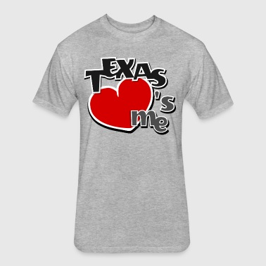 Texas loves me - classic red i love heart funny - Fitted Cotton/Poly T-Shirt by Next Level