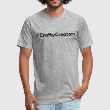 Crafty Creators White Stitched Black Linen Text - Fitted Cotton/Poly T-Shirt by Next Level