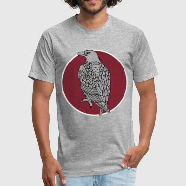 Eagle Red Circle - Fitted Cotton/Poly T-Shirt by Next Level