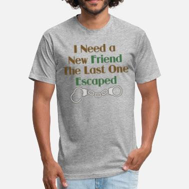 3f42a6fb0 Friends Font New Friend Funny Saying - Unisex Poly Cotton T-Shirt