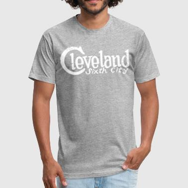 Cleveland Sixth City T-Shirt White Letter - Fitted Cotton/Poly T-Shirt by Next Level