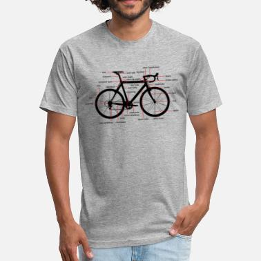 Alleycat bicycle parts - Fitted Cotton/Poly T-Shirt by Next Level