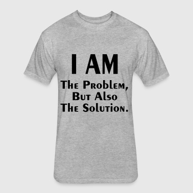 THE PROBLEM AND SOLUTION - Fitted Cotton/Poly T-Shirt by Next Level