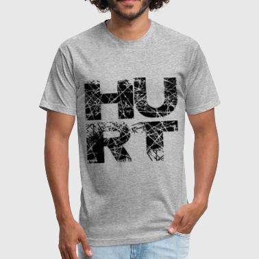HURT - Fitted Cotton/Poly T-Shirt by Next Level