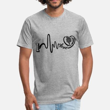 Morel Mushrooms Morel Mushroom Heartbeat Shirt - Fitted Cotton/Poly T-Shirt by Next Level
