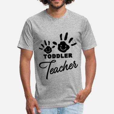 Toddler Teacher Funny Funny Toddler Teacher Shirt - Fitted Cotton/Poly T-Shirt by Next Level