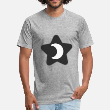 Pop Star K-Pop Moon Star - Fitted Cotton/Poly T-Shirt by Next Level