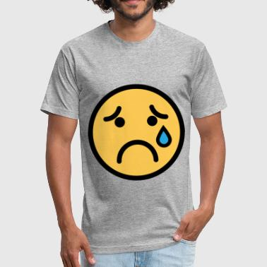 Sadness Smiley Face Smiley Face Sad Crying Face - Fitted Cotton/Poly T-Shirt by Next Level
