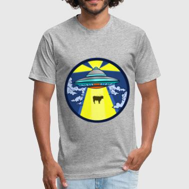 UFO UFO UFO - Fitted Cotton/Poly T-Shirt by Next Level