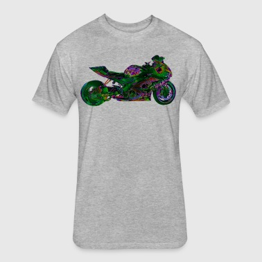 Suzuki GSX-R 1000 FULL GN - Fitted Cotton/Poly T-Shirt by Next Level