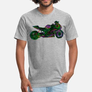 Gsx Suzuki GSX-R 1000 FULL GN - Fitted Cotton/Poly T-Shirt by Next Level