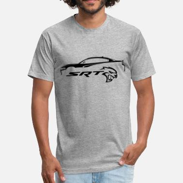 Dodge Srt Dodge Charger Hellcat - Fitted Cotton/Poly T-Shirt by Next Level