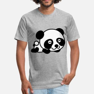 Panda Vector panda vector comic kids children - Fitted Cotton/Poly T-Shirt by Next Level