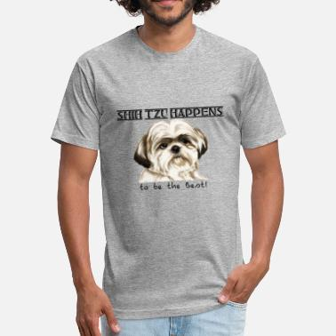 Zhu SHIH ZHU HAPPENS - Fitted Cotton/Poly T-Shirt by Next Level