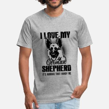 German Shepherd Dog German Shepherd Shirt - German Shepherd Dog Tshirt - Fitted Cotton/Poly T-Shirt by Next Level