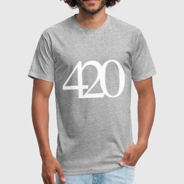 420 Weed 420 Weed Cannabis - Fitted Cotton/Poly T-Shirt by Next Level
