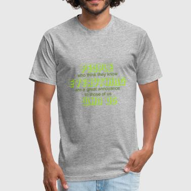 Isaac Asimov people who know everything - Fitted Cotton/Poly T-Shirt by Next Level
