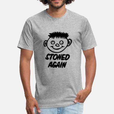 Stoned Cartoon Stoned Weed - Fitted Cotton/Poly T-Shirt by Next Level
