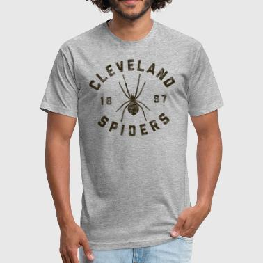 Spiders Baseball Cleveland Spiders Vintage Tee Black Print - Fitted Cotton/Poly T-Shirt by Next Level
