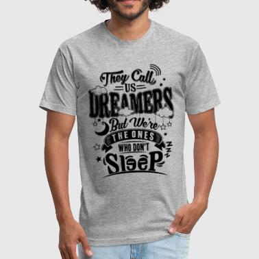 dreamer - Fitted Cotton/Poly T-Shirt by Next Level