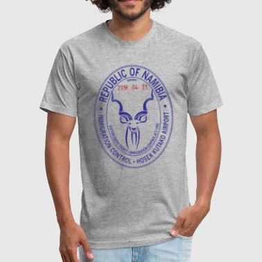 Namibia Passport Stamp - Fitted Cotton/Poly T-Shirt by Next Level